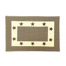 Placemats Fused - Star Black Check