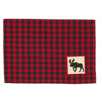 Placemats Fabric - Buffalo Red plaid with Moose
