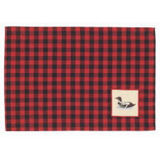 Placemats Fabric - Buffalo Red (Loone Emb.)