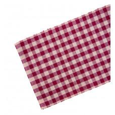 Table Runner Ribbed - Burgundy Check