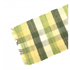 Table Runner Chindi - Olive Green