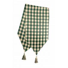 Table Runner Tassles - Green Check
