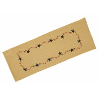 Table Runner Fused - Burlap Berry with Star