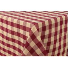 Table Cloth - Burgundy Check