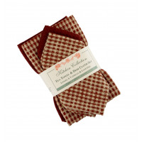 2 T Towels + 2 Dish Cloths Set - Berryvine Burgundy