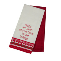 2 Pc. Tea Towels Set - Happy Holiday Home