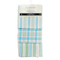 3 Pc. Tea Towels Set - Mid Blue Plaid