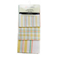3 Pc. Tea Towels Set - Lemon Plaid