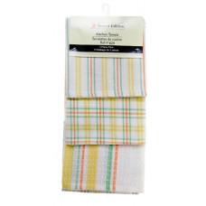 3 Pc. Tea Towels Set - Lemon Plaid
