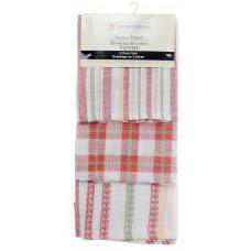 3 Pc. Tea Towels Set - Brown plaid