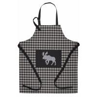 Apron - Buffalo Grey Plaid with Moose