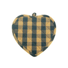 Pot Holder Heart - Navy Check
