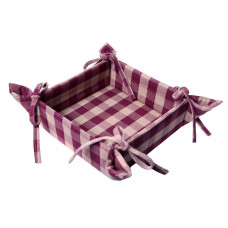 Bread basket - Burgundy Check