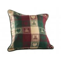 Zip Cushion Cover - Teddy Bear