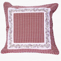 Zip Cushion Cover - Berryvine Burgundy