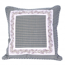 Zip Cushion Cover - Berryvine Green Check