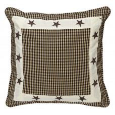 Zip Cushion Cover - Star Black Check