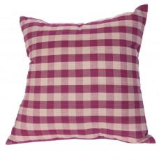 Toss Cushion - Burgundy Check