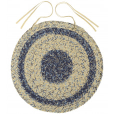 Braided Chair Pads - Sand Blue