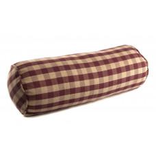 Neckroll / Bolster - Burgundy Check - Large