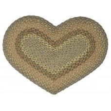 Braided Heart Rug - JB101