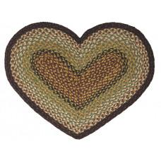 Braided Heart Rug - JB105