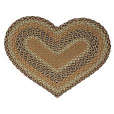 Braided Heart Rug - JB107