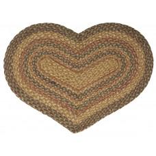 Braided Heart Rug - JB108