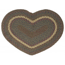 Braided Heart Rug - JB109