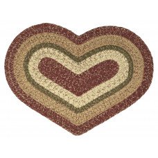 Braided Heart Rug - Rosemary