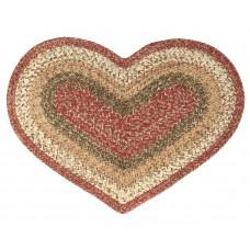 Braided Heart Rug - Cyprus