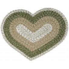 Braided Heart Rug - Tulsi