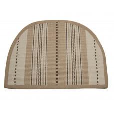 Floor Mat - 'D' Shape - Coco Stripe