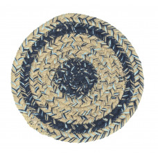 Braided Trivet - Sand Blue