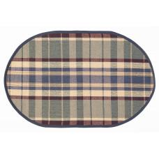 Floor Mat - Army (Oval)