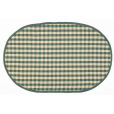 Floor Mat - Berry Green Check (Oval)