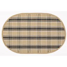 Floor Mat - Black Haze (Oval)