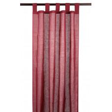 Voile / Sheer Curtain - Burgundy